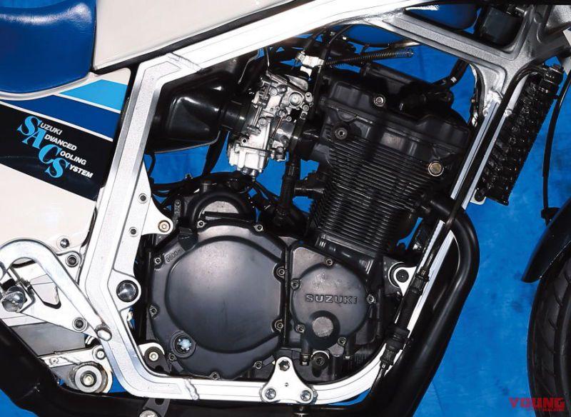 スズキGSX-R750(1985年)の油冷エンジン