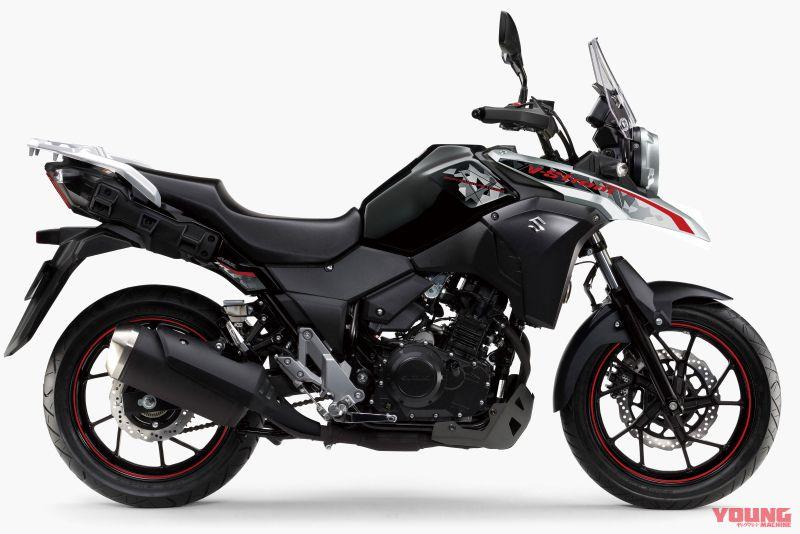 【SUZUKI V-STROM 250 ABS 2019】パールネブラーブラック×ハイテックシルバーメタリック
