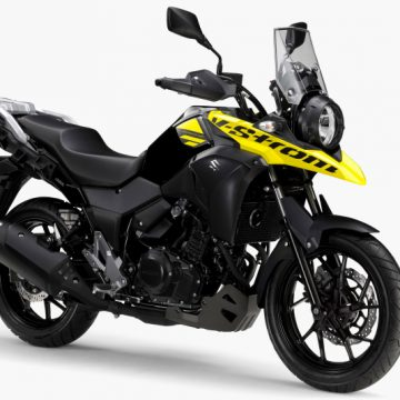 【SUZUKI V-STROM250/ABS 2019】パールネブラーブラック×ソリッドダズリンクールイエロー ※写真はABS