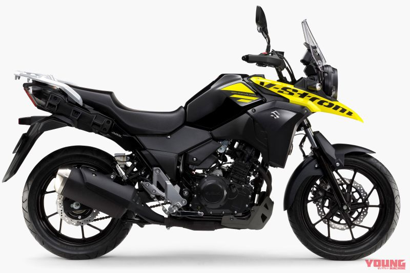 【SUZUKI V-STROM 250/ABS 2019】パールネブラーブラック×ソリッドダズリンクールイエロー ※写真はABS