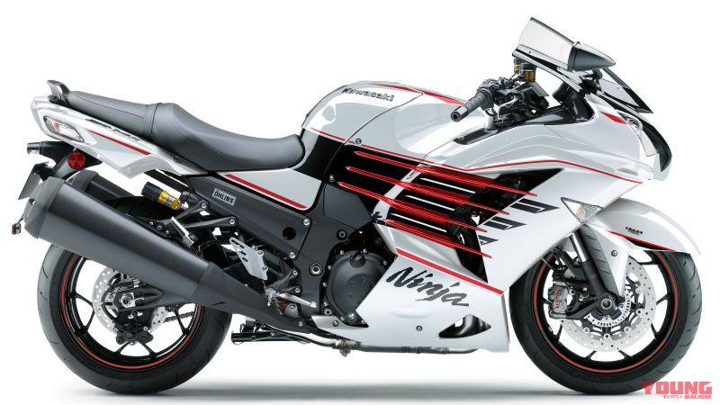 [KAWASAKI Ninja ZX-14R HIGH GRADE 2020]パールブリザードホワイト×メタリックスパークブラック×キャンディーファイアレッド