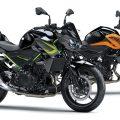カワサキZ400&Z250に新色登場、メタリックグリーンのフレーム塗装や鮮やかなオレンジが印象的