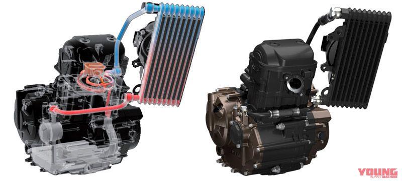 ジクサー250の油冷エンジン