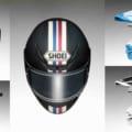 軽量フルフェイスのSHOEI Z-7にクラシカルなストライプモデル「イクエート(EQUATE)」が登場