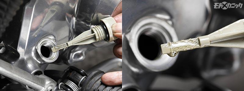 エンジンオイルは入れすぎに要注意