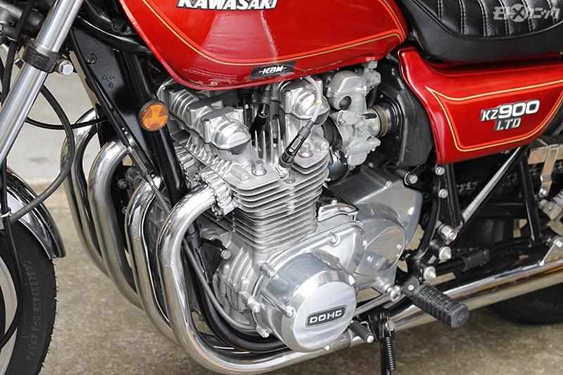 重曹ブラストで洗浄したKZ900LTDエンジン
