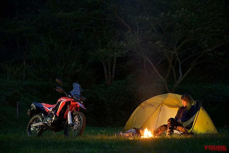 キャンプ with CRF250ラリー