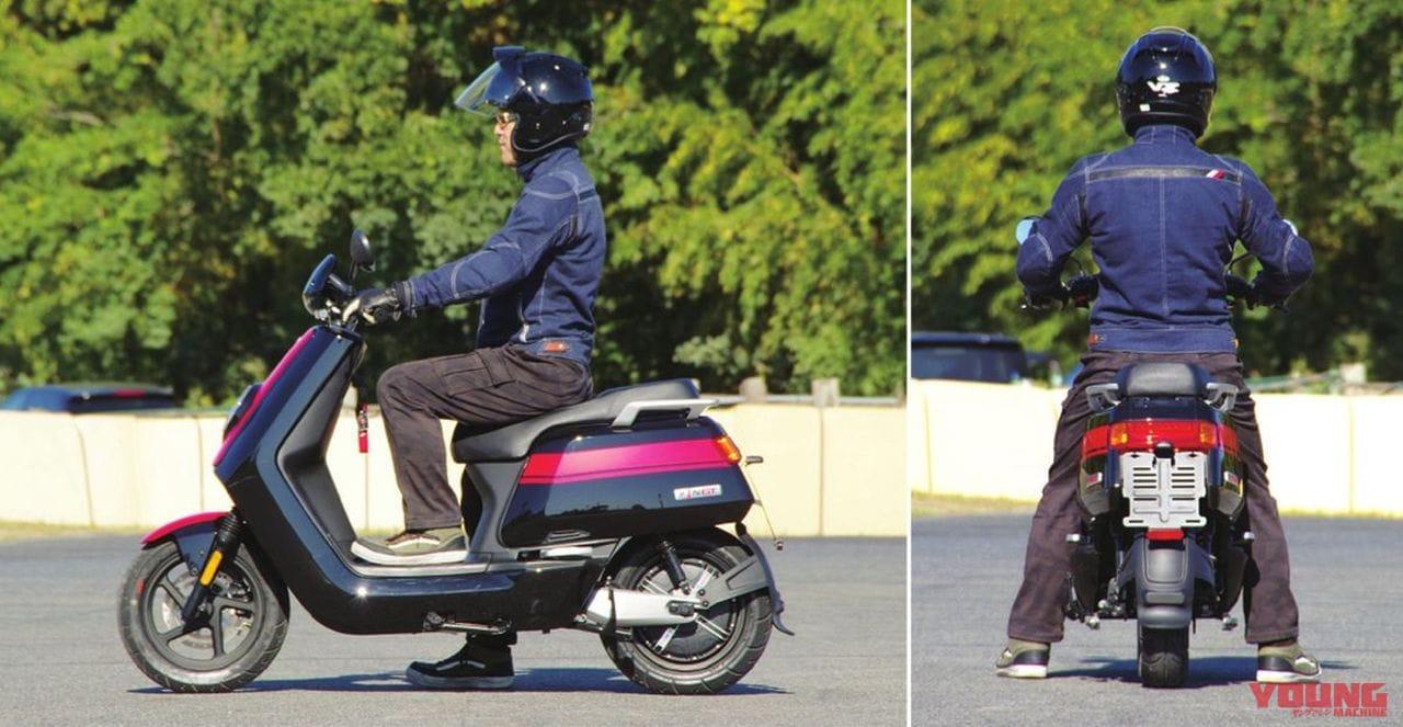電動バイクXEAM「niu N-GT」ライディングポジション