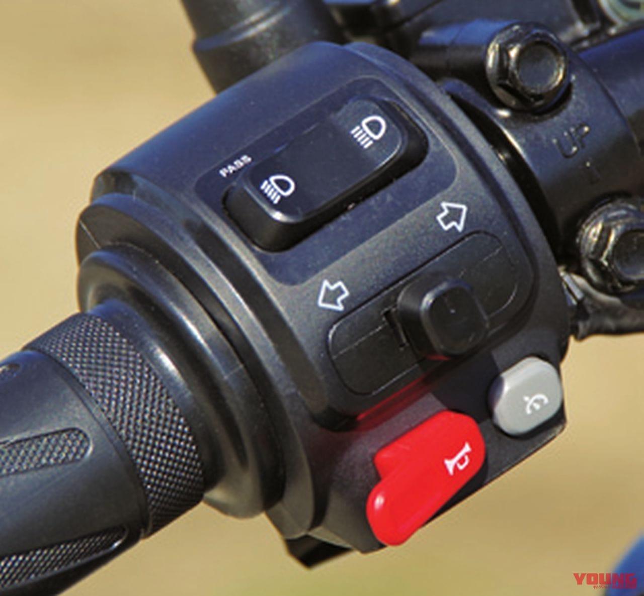 電動バイクXEAM「niu N-GT」ハンドルスイッチ