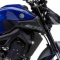 """MT-25も発表間近! ヤマハ「MT-09」2020年モデルに新色ブルー登場…""""R""""ゆずりのマットグレーが渋い"""