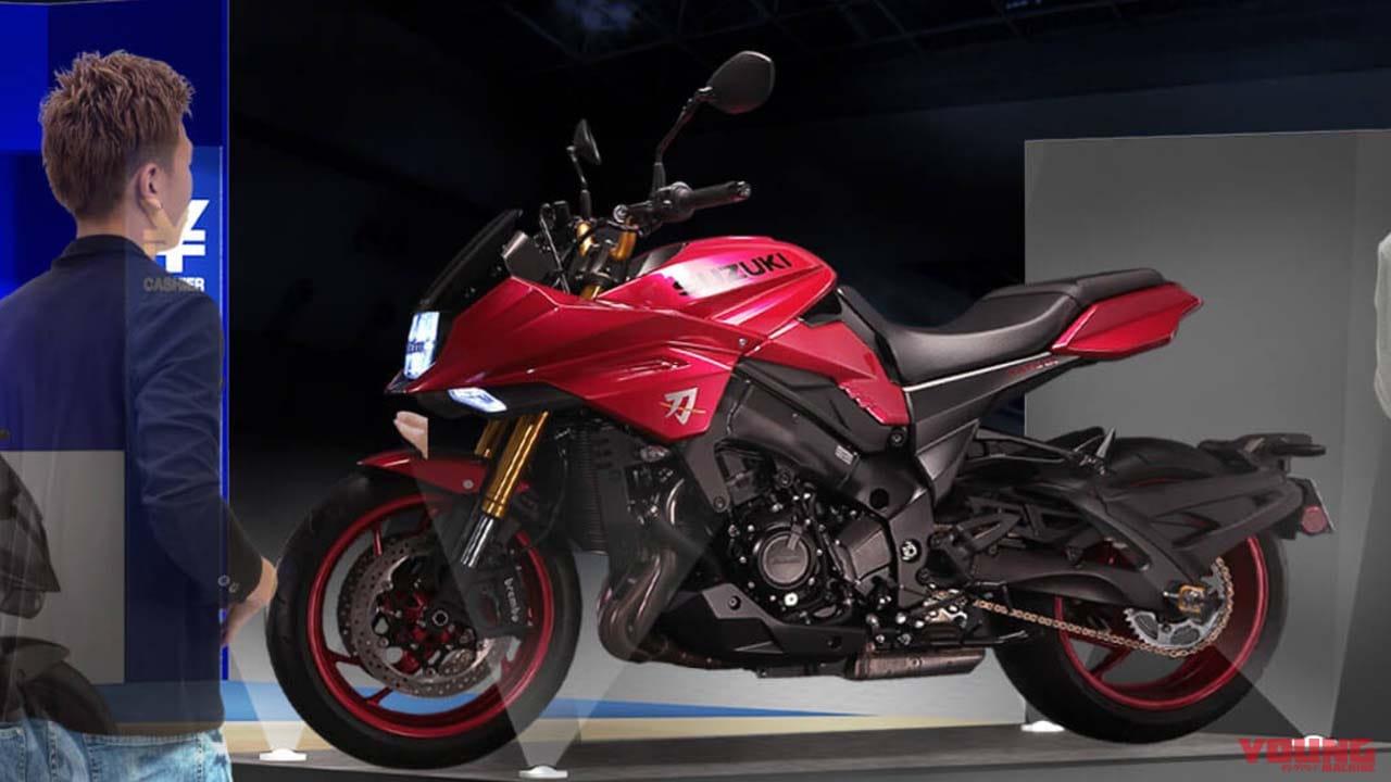 スズキ WEB モーターサイクルショーで展示されるKATANAの特別カラー