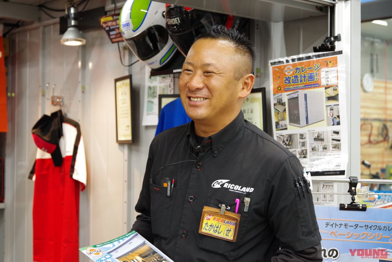 ライコランド埼玉店のベテラン販売スタッフ、高橋彩一さん