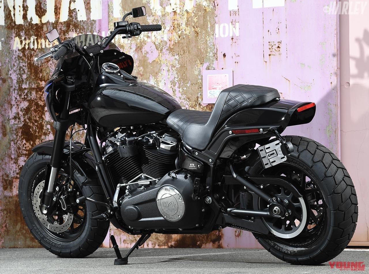 RTB Motorcycle ファットボブ114カスタム バックショット