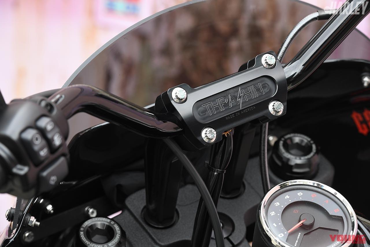 RTB Motorcycle ファットボブ114カスタム ハンドルまわり