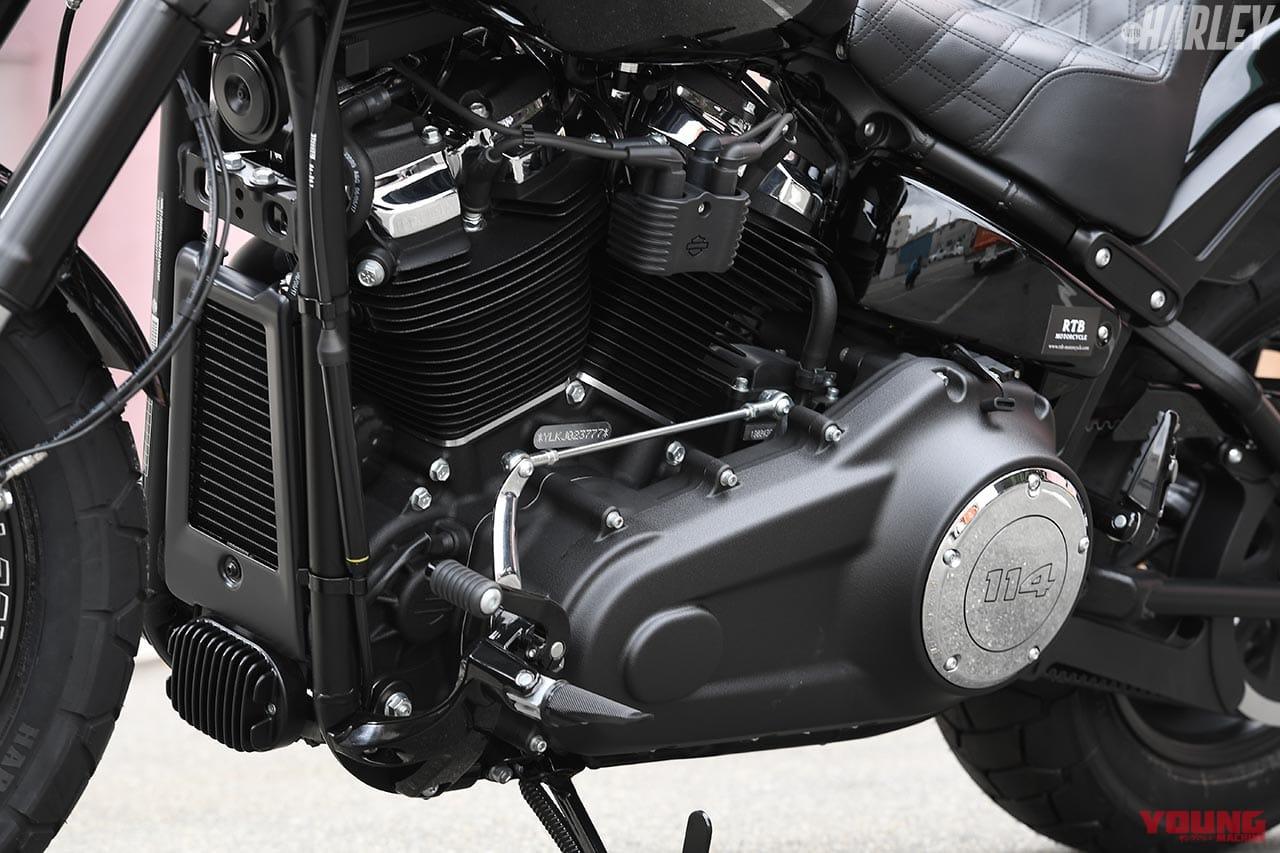 RTB Motorcycle ファットボブ114カスタム エンジンまわり