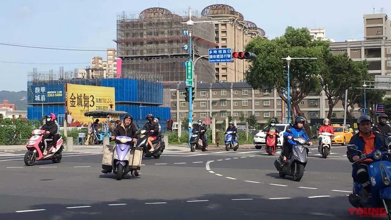 台湾のバイクの様子