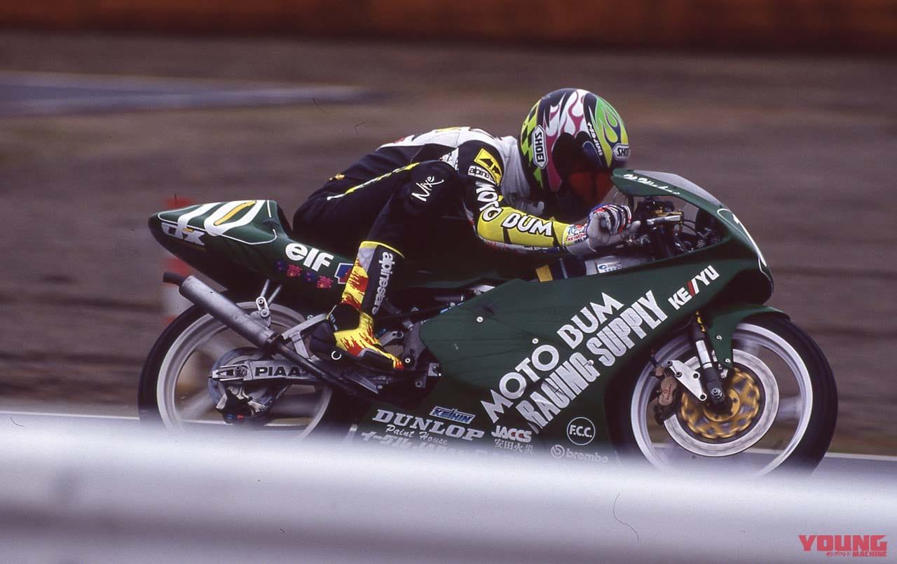 1992年、日本GPで走る若井伸之