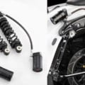 減衰/プリロード/車高調整機構を持つハーレー用リヤサス【レーシングブロス】
