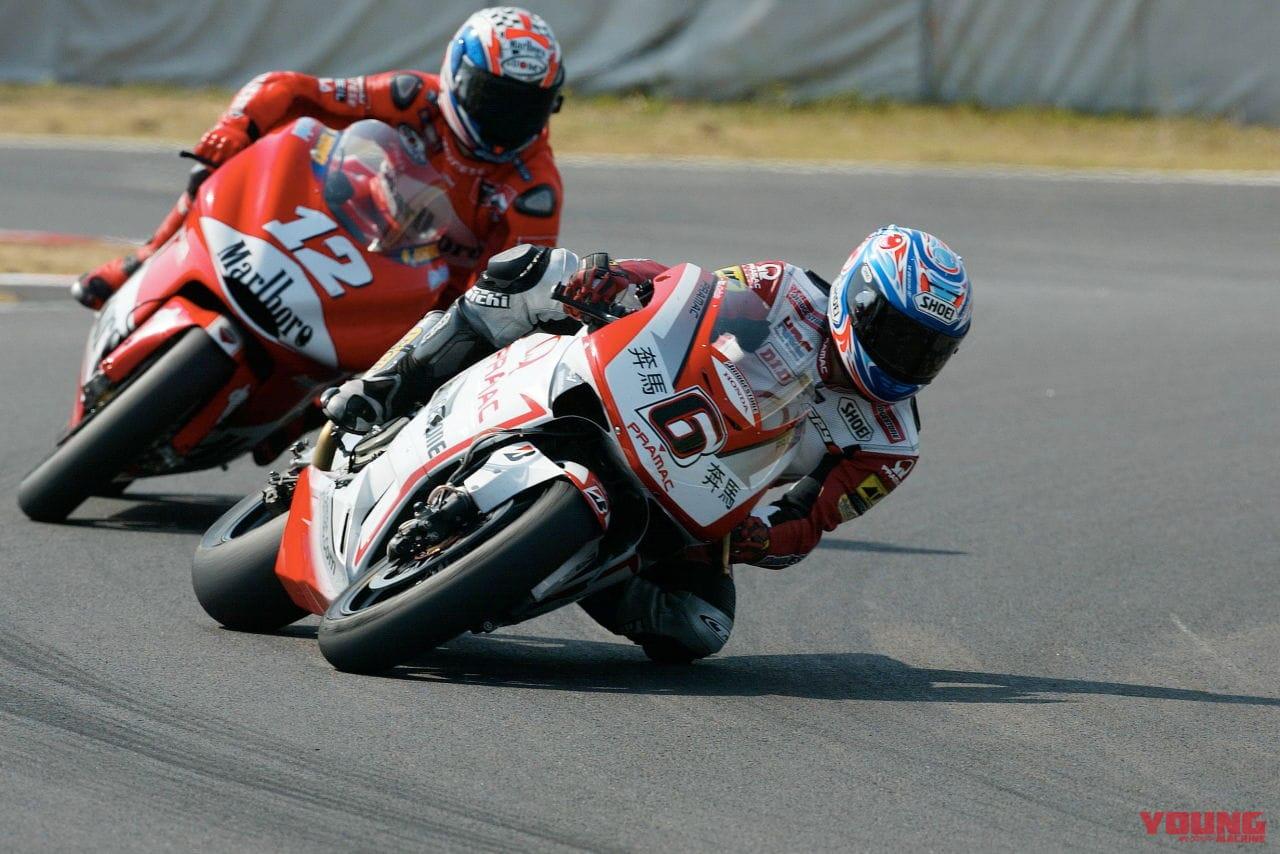 2003年開幕戦、鈴鹿の日本GPを走る玉田誠