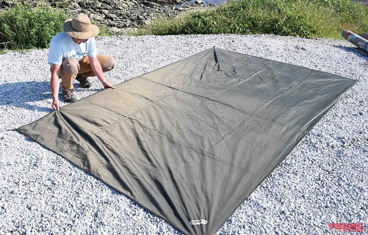 設営:吊り下げ式ドームテントの場合