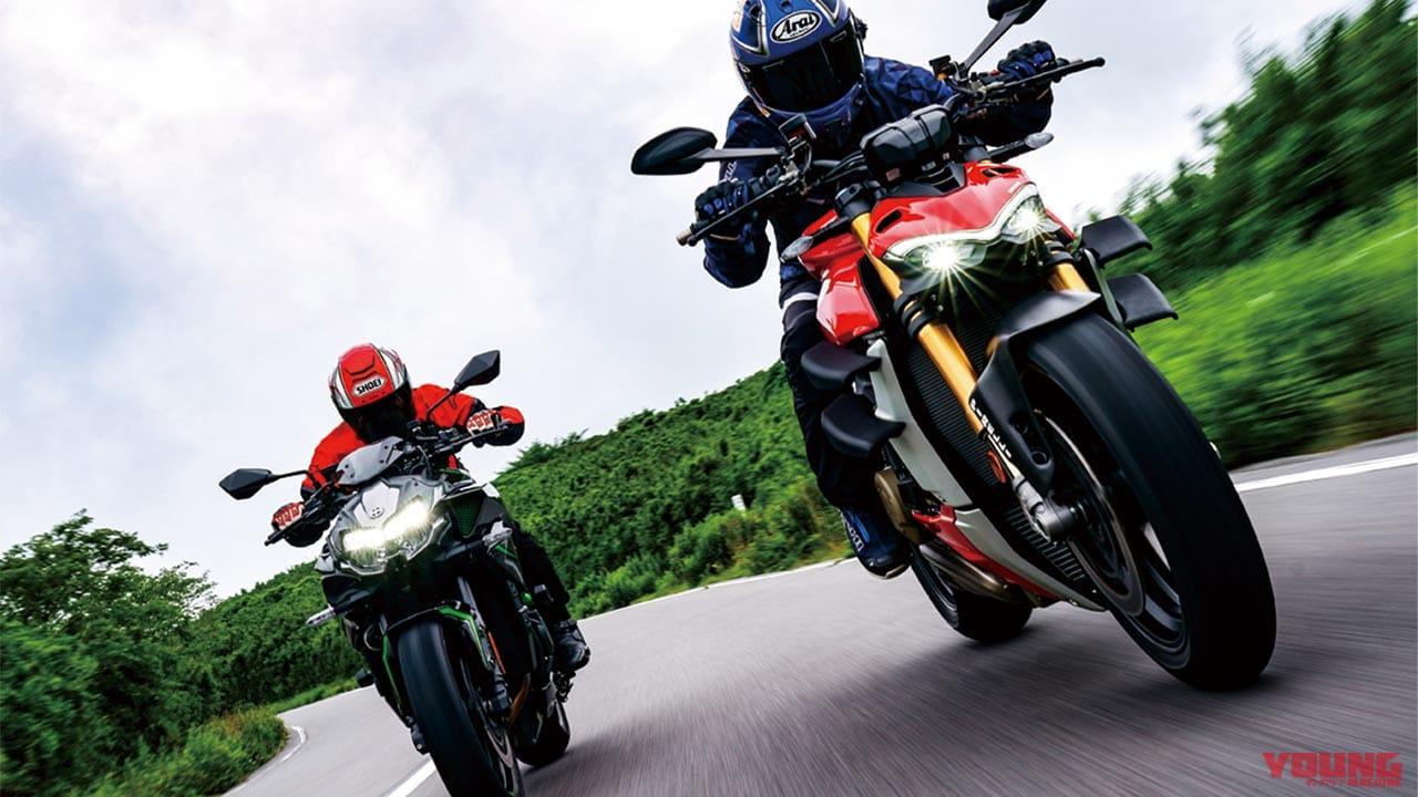 ドゥカティ ストリートファイターV4S公道試乗インプレ【カワサキZ H2と比較】