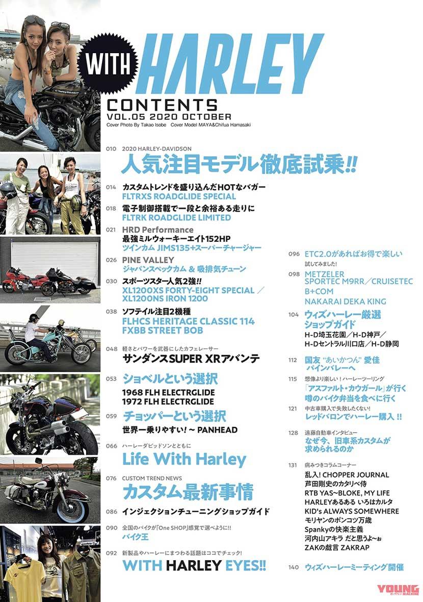 ハーレー専門誌『ウィズハーレー』vol.5発売【最新モデル&カスタム試乗など満載!】