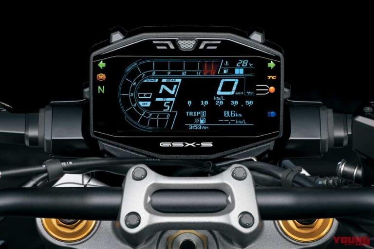'21 スズキGSX-S1000 | 待望の大型 LCDパネル
