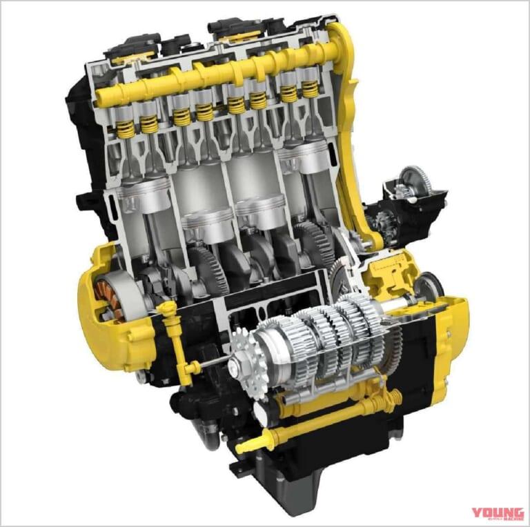 '21 スズキGSX-S1000 | エンジン内部イラスト