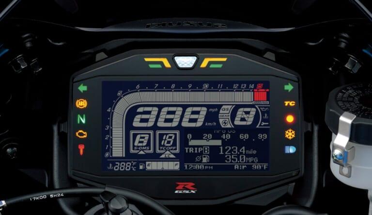 スズキGSX-R1000R|反転液晶メーター