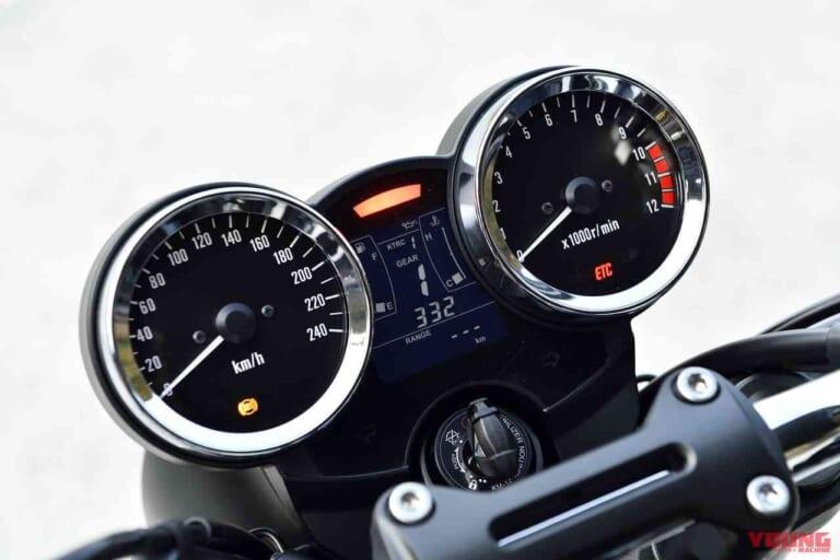 '22 カワサキZ900RS  トラクションコントロール入りメーター